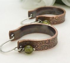 Sterling silver and big copper hoop by CreativityJewellery on Etsy, $45.00