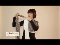 Many ways to twist a scarf around the neck  to make beautiful clothing embellishments