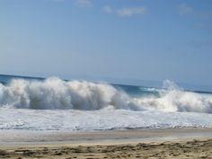 foamy sea waves...