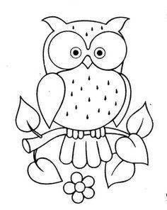 desenho de coruja para pintar