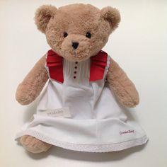 Vestido de pique blanco con detalles en rojo de Chocolat Baby · 23.25€