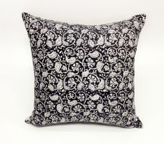 Petit Paisely Hand Block Printed Throw Pillow by Alamwar on Etsy