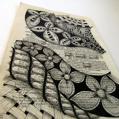Being Alone - Original Art- Found Poetry I take pleasure in being Alone Tangle Doodle, Doodle Art, Zentangle Patterns, Zentangles, Diy Old Books, Found Poetry, Blackout Tattoo, Blackout Poetry, Altered Book Art