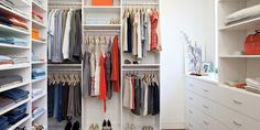California Closets provides a range of unique and beautiful custom closets, closet organizers, and closet storage systems for any room in the home. Closet Walk-in, Closet Space, Closet Storage, Closet Organization, Organization Ideas, Closet Ideas, White Closet, Organizing Tips, Storage Ideas