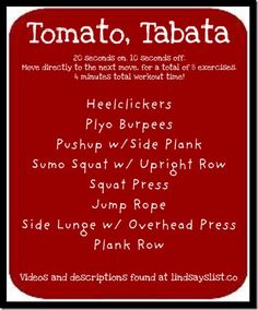 Doing Tabata with some other moms. Now I haveta figure out what all of these actually mean...