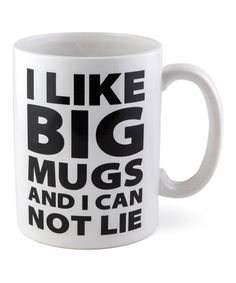 Shore up your morning routine with this jumbo mug featuring a chuckle-worthy graphic.