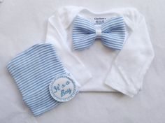 Baby boy coming home outfit newborn boy by PinkandBlueBonnets