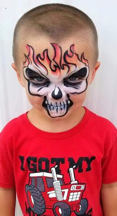 halloween face paint for boys pin by on face paint easy face painting boy mup mup easy halloween face paint for guys Easy Halloween Face Painting, Halloween Makeup For Kids, Face Painting For Boys, Halloween Skull, Halloween Costumes, Halloween Facepaint Kids, Skeleton Face Paint, Skull Face Paint, Skull Painting