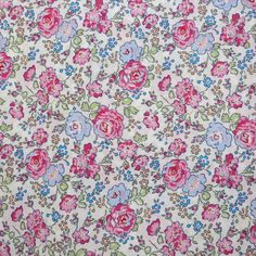 LIBERTY Of LONDON Tana Lawn Cotton Floral Fabric  'Felicite' Pink/Blue.