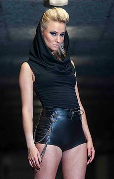 Oversize Turtleneck Collar Tank Top, Large Black Cowl Neck Hood, by LENA QUIST on Etsy, $110.00