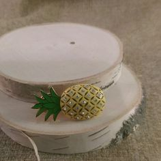 Juicy couture pineapple pin brooch Only worn once! Cute little pineapple pin with crystals.  1.25 inches big. Juicy Couture Jewelry Brooches