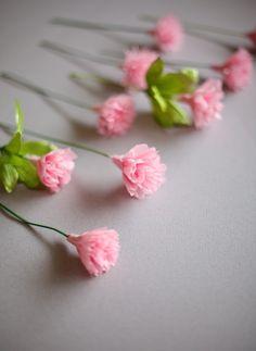 ~Ruffles And Stuff~: DIY Crepe Paper Carnations!