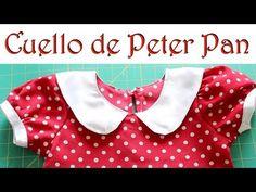 """""""Cómo hacer un Cuello de Peter Pan"""" - YouTube"""