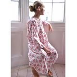 One of our favourite- Ballerina Girl Cotton Nightdress with an all over design, pintucks on the front bodice with 3 covered buttons, neck edged with cotton lace.  #Cotton #Pyjamas #girlsnightwear