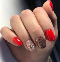 Cute Christmas Nails, Xmas Nails, Holiday Nails, Sassy Nails, Cute Nails, Stylish Nails, Trendy Nails, Gel Nails, Acrylic Nails