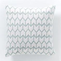 Coyuchi Crewel Arrow Pillow Cover #westelm