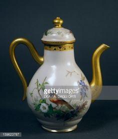 Coffee pot, part of coffee service, ca 1865, china, L'escalier de cristal manufacture, Paris. France, 19th century.