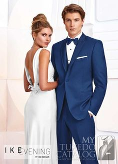 """<p style=""""text-align: left;"""">The Cobalt Blue 'Greenwich' Tuxedo by Ike Behar arrives in the wake of the increasingly popularity blue formalwear. It features a one button single-breasted front, peak lapel, satin besom pockets, and is fashioned from luxuriously soft Super 120's wool in a slim cut for a closer, more exacting fit. This tuxedo is a beautifully colorful option for your special event.</p> <h5 style=""""text-align: center;"""">Availab..."""