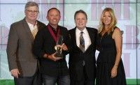 Pictured at the 2014 BMI Christian Awards are BMI's Phil Graham, Song of the Year honoree and Songwriter of the Year Chris Tomlin, and BMI's Jody Williams and Leslie Roberts.