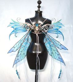 OOAK Fairy Pixie Bear BJD Artist Doll Iridescent Harness Wings - NEW! | eBay