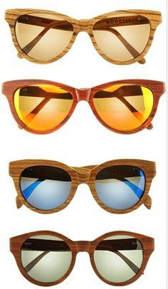 Wood sunglasses.  #Style #Nature #Woodzee