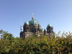 Berliner Dom with in the background the TV-Tower