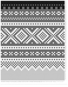 Norwegian Marius pattern, wondering if I can crochet something with this. Baby Hats Knitting, Fair Isle Knitting, Knitting Charts, Knitting Stitches, Knitting Designs, Knitting Projects, Knitting Socks, Weaving Patterns, Cross Stitch Patterns