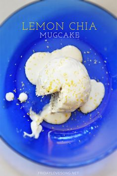 Lemon Chia Protein @Cellucor Microwave Mugcake With Healthy Frosting | fridaylovesong.net