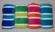 Stripy beach towels
