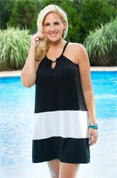 Women's Plus Size Cover Ups - Always For Me Cover Sleeveless Jersey Cover Up