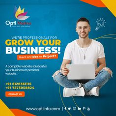 We're Professionals for grow your business. Get on TOP & Stay on TOP with our Website design services. We will help you in building you! Building your brand. 🖥️ www.optiinfo.com 📩 info@optiinfo.com 📲 +91 8128361116 🔗 wa.me/918128361116 #bestwebdevelopmentcompany #topwebsitedesigndervices #bestwebdevelopmentcompanyinindia #seocompany #websitedevelopment #topdigitalmarketingcompanyinindia #topwebsitedevelopment #bestwebsitedesigncompany Best Web Development Company, Seo Company, Website Design Services, Website Design Company, Build Your Brand, Growing Your Business, Logo Design, Building, Top