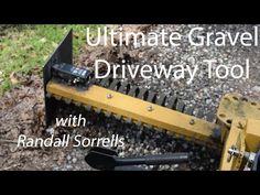 Ultimate Gravel Driveway Tool - YouTube Landscape Rake, Tractor Accessories, Gravel Driveway, Tractors, Tools, Youtube, Instruments, Garden Rake, Gravel Path