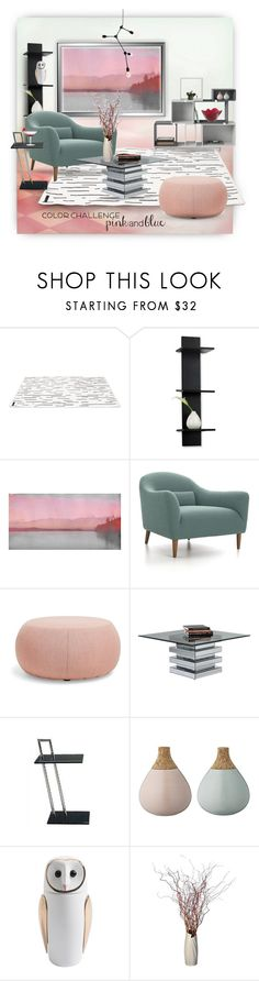 """Color Challenge: Pink and Blue"" by ysmn-pan ❤ liked on Polyvore featuring interior, interiors, interior design, home, home decor, interior decorating, Muuto, Mikasa, Parvez Taj and Crate and Barrel"