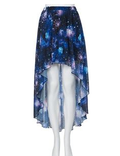 Out of this Universe Fashion - Galaxy High & Low Skirt! Pretty Outfits, Pretty Dresses, Beautiful Outfits, Cool Outfits, Casual Outfits, Galaxy Skirt, Galaxy Outfit, Galaxy Fashion, Cute Skirts
