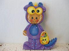 HP Gingerbread Halloween MONSTER SHELF SITTER hand painted USA
