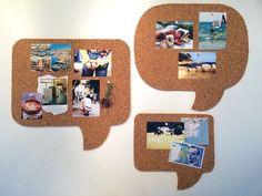 DIY - Pinnwand aus Kork in Form von Sprechblasen