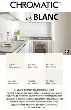 Discover all the shades of white CHROMATIC® on www. Interior Paint Colors, Paint Colors For Home, House Colors, Interior Design, Paint Color Schemes, Web Design, House Design, Shades Of White, Home Staging