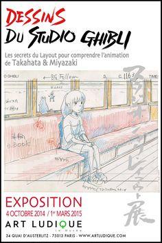 Afiche de la exposición sobre Studio Ghibli que se celebrará en Art Ludique del 4 de octubre al 1 de marzo.