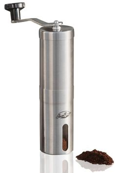 Buy JavaPresse Manual Coffee Grinder with Adjustable Setting - Conical Burr Mill & Brushed Stainless Steel - Burr Coffee Grinder for Aeropress, Drip Coffee, Espresso, French Press, Turkish Brew Best Coffee Grinder, Manual Coffee Grinder, Coffee Company, Coffee Shop, Coffee Maker, Coffee Machine, Coffee Lovers, Coffee Tasting, Coffee Drinkers