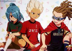 Kazemaru Ichirouta, Gouenji Shuuya and Kidou Yuuto from Inazuma Eleven Ares no Tenbin ❙ Source ▸ https://www.facebook.com/InazumaElevenSuper11/