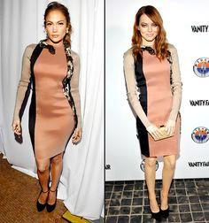 Jennifer Lopez vs. Emma Stone  vote here: http://www.usmagazine.com/celebrity-style/news/who-wore-it-best-jennifer-lopez-or-emma-stone-201215