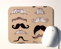 This Gentleman's Mustache Mousepad is awesome!