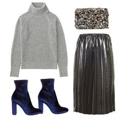 Blue Velvet Ankle Boots - Get party ready with luxe blue velvet. We adore the sock style and covered heel. Team yours with a metallic midi skirt, a cozy sweater and a sparkly clutch for a fresh take on evening dressing.