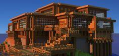Minecraft Beach House Wallpaper