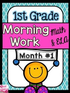 Morning Work * Morning Work * Morning Work * Morning Work* Morning WorkMorning Work with a word of the day featureMorning Work: First Grade Morning WorkThis is month #1 out of 10 months of morning work (months 9 -10 are currently in the works and should be completed by the end of June 2015).