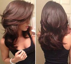Pretty Women's Layered Hair Cuts Hairstyles Ideas to Looks More Cool Great Hair, Nice Hair Cuts, Hair Cut Ideas, Hair Today, Hair Dos, Gorgeous Hair, Beautiful, Pretty Hairstyles, Hairstyle Ideas