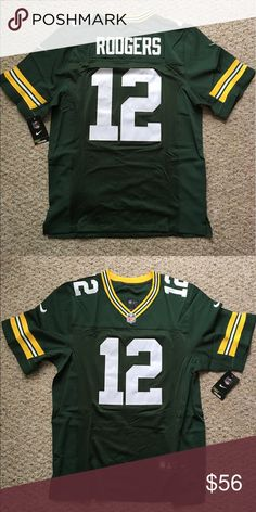 Aaron Rodgers Green Bag Packers Men s jersey New with tags Green Bay  Packers with Aaron Rodgers men s jersey size Ships same business day! c4e7a7017