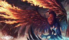 Anivia Volcanic Rebirth - League of Legends by o0dzaka0o.deviantart.com on @DeviantArt - A magma phoenix is a nice change from being pure flames.