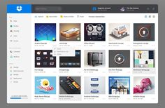 Dropbox Redesign Dashboard UI PSD
