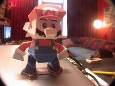 Papercraft Mario by dannybosten, via Flickr #Mario  #Nintendo